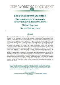 The Final Brexit Question summary