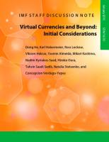Virtual Currencies and Beyond summary