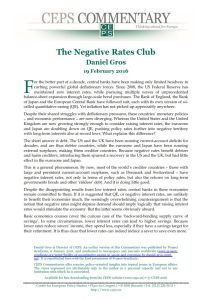 The Negative Rates Club