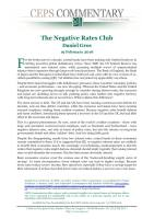 The Negative Rates Club summary