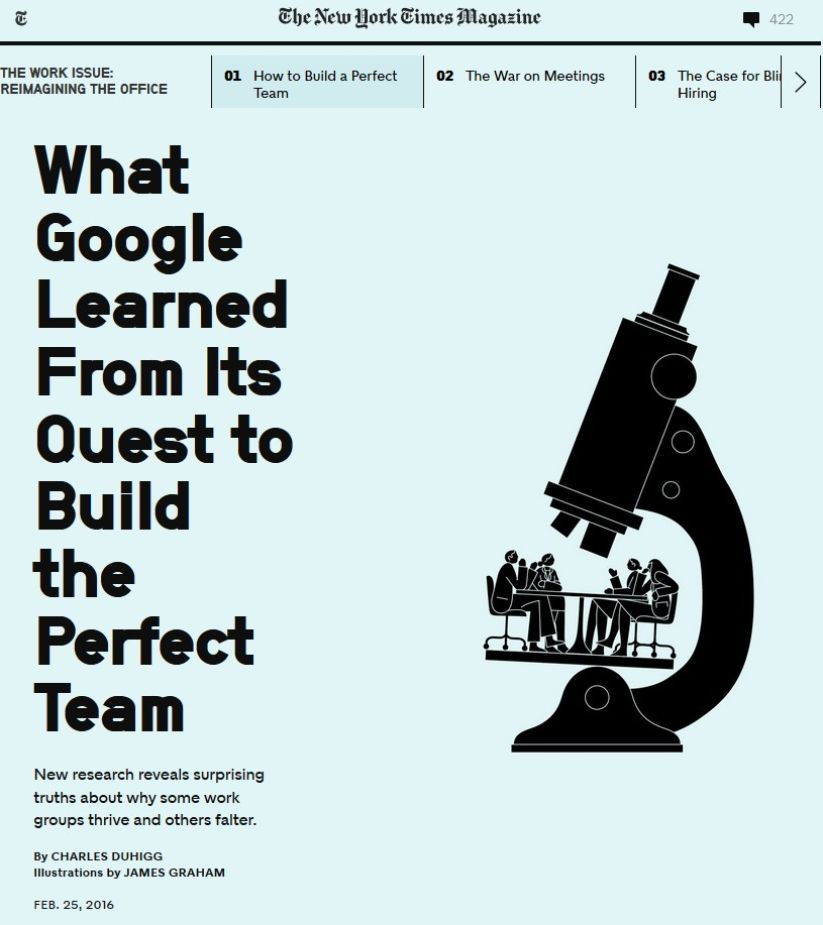 Image of: What Google Learned From Its Quest to Build the Perfect Team