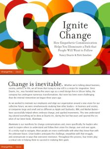Ignite Change summary