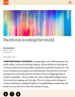 Facebook Is Eating the World summary