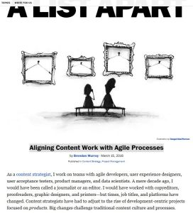 Aligning Content Work with Agile Processes summary