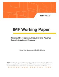 Financial Development, Inequality and Poverty: Some International Evidence summary