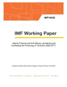 Islamic Finance and Anti-Money Laundering and Combating the Financing of Terrorism (AML/CFT) summary