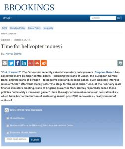 Time for Helicopter Money? summary