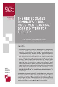 The United States Dominates Global Investment Banking summary