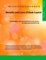 Benefits and Costs of Bank Capital summary