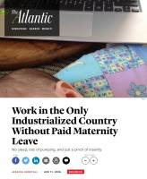 Work in the Only Industrialized Country Without Paid Maternity Leave summary