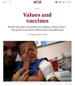 Values and Vaccines