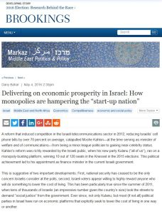 Delivering on Economic Prosperity in Israel