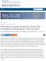 Delivering on Economic Prosperity in Israel summary