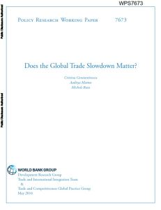 Does the Global Trade Slowdown Matter? summary