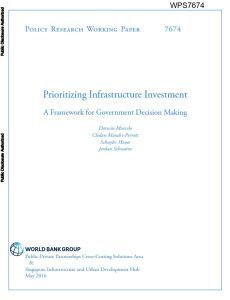 Prioritizing Infrastructure Investment summary