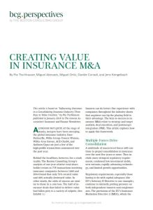 Creating Value in Insurance M&A summary