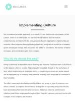 Implementing Culture summary