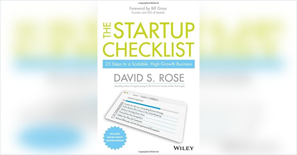 The Startup Checklist Summary | David S. Rose | Pdf Download