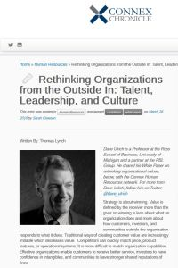 Rethinking Organizations from the Outside In summary