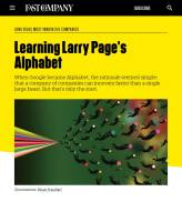 Learning Larry Page's Alphabet summary