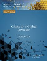 China as a Global Investor summary