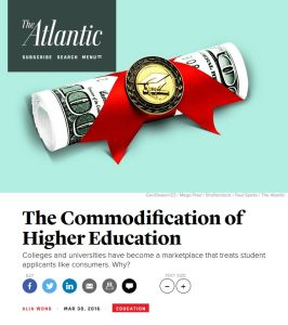 The Commodification of Higher Education