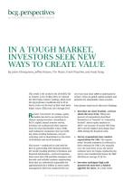 In a Tough Market, Investors Seek New Ways to Create Value summary