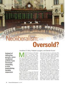 Neoliberalism: Oversold?