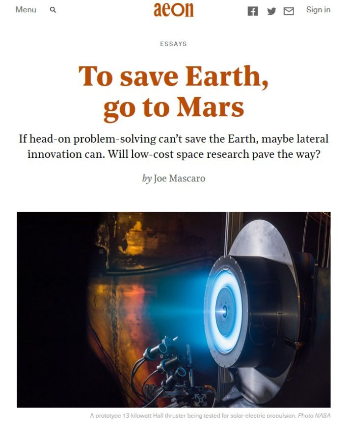 Image of: To Save Earth, Go to Mars