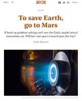 To Save Earth, Go to Mars summary