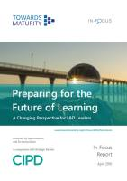 Preparing for the Future of Learning summary