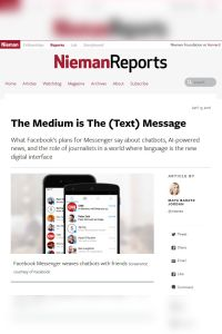 The Medium Is the (Text) Message summary