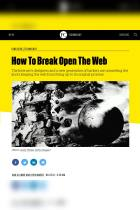 How To Break Open The Web