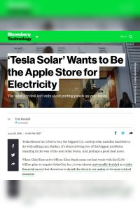 'Tesla Solar' Wants to Be the Apple Store for Electricity summary