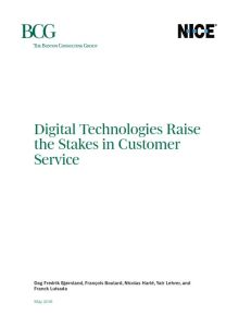 Digital Technologies Raise the Stakes in Customer Service