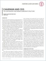 Chairman and CEO summary