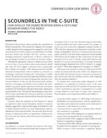 Scoundrels in the C-Suite summary