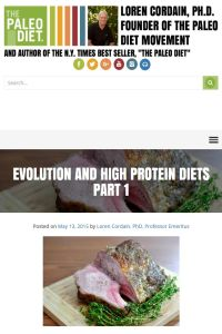 Evolution and High-Protein Diets summary