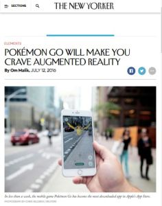 Pokémon Go Will Make You Crave Augmented Reality summary
