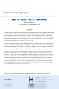 The Interest Rate Unbound? summary