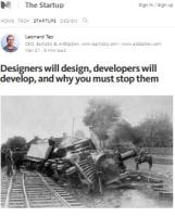 Designers Will Design, Developers Will Develop, and Why You Must Stop Them summary