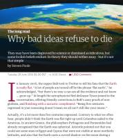 Why Bad Ideas Refuse to Die summary