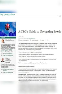 A CEO's Guide to Navigating Brexit summary