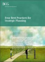 Four Best Practices for Strategic Planning summary
