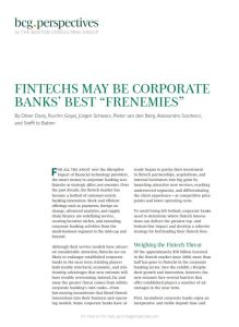 "Fintechs May Be Corporate Banks' Best ""Frenemies"" summary"