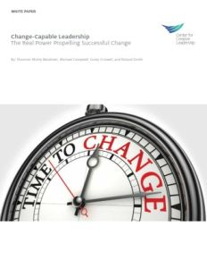 Change-Capable Leadership summary