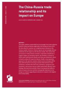 The China-Russia Trade Relationship and Its Impact on Europe summary