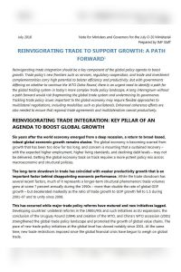 Reinvigorating Trade to Support Growth summary