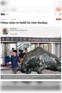 China Aims to Build Its Own Nasdaq summary