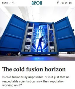 The Cold Fusion Horizon summary